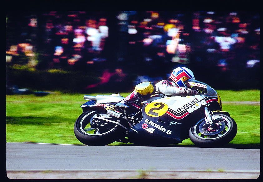 1981 Aboard his semi-factory run 500cc bike shod with Michelin tyres, Marco Lucchinelli showed a clean pair of heels to his big name rivals... #michelin