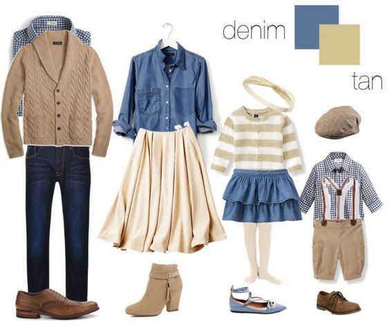 Denim and tan fall family photo outfit ideas. #KateLPhotography #NAPCP - What To Wear: Fall Family Photo Sessions, By Kate Lemmon Of Kate L