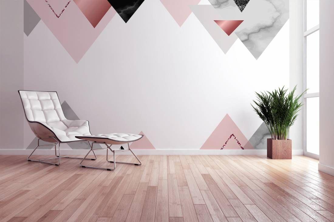 Dieses grafische Design aus Marmor Dreiecken eignet sich perfekt für ...