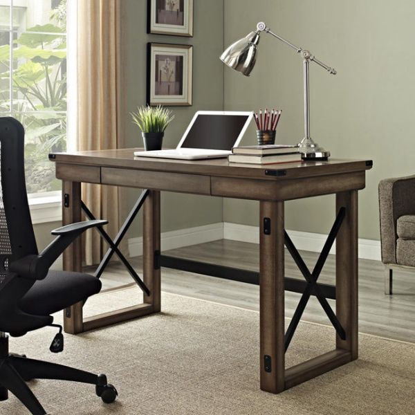 rustic desk home office. Computer Desk For Small Spaces Home Office Kids Writing Rustic Laptop Table #Altra #Rustic D