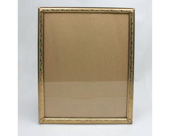 Vintage 1960s Gold Metal Picture Frame Metalcraft 8x10 Portrait