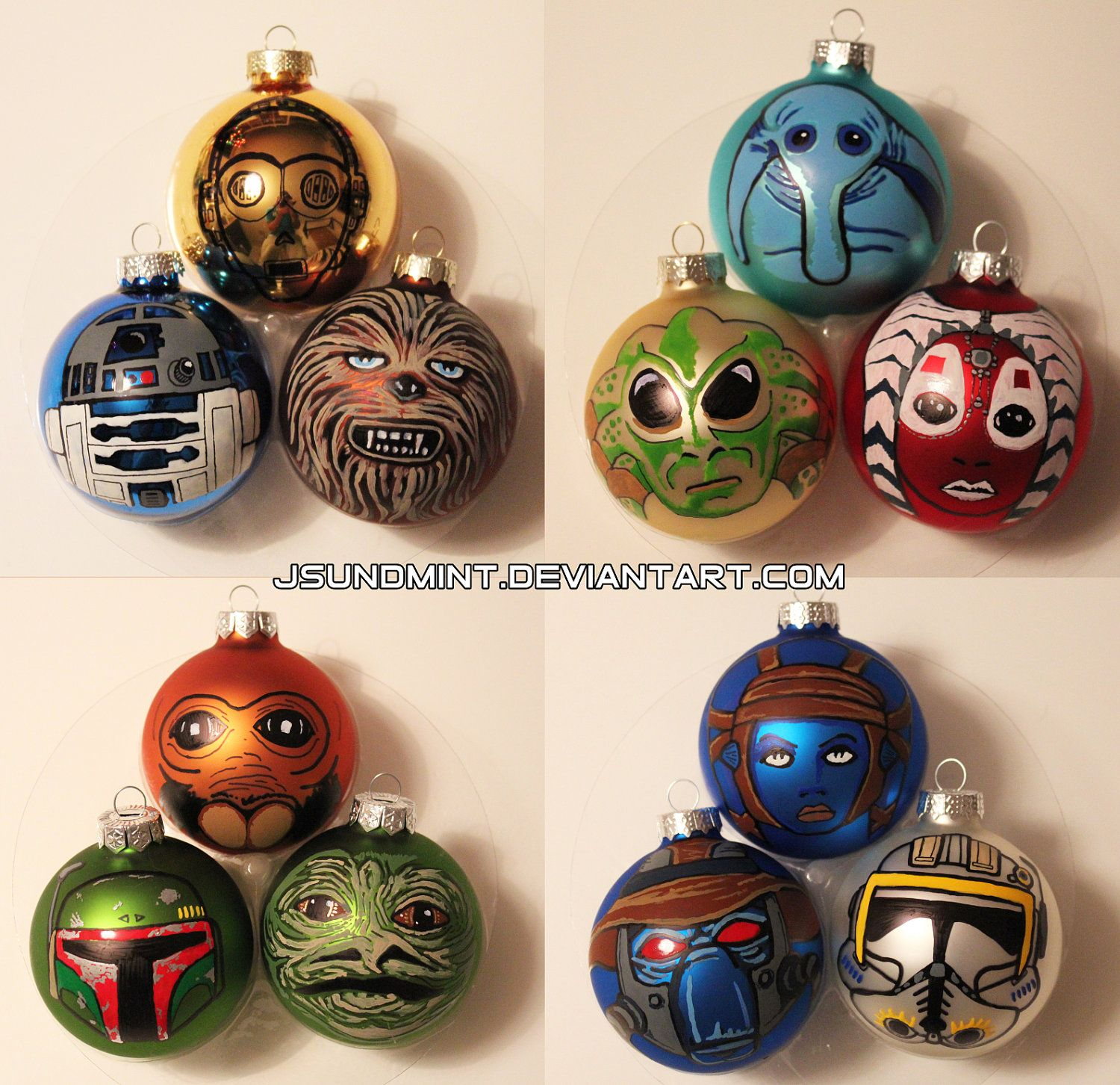 custom star wars christmas tree ornaments by. Black Bedroom Furniture Sets. Home Design Ideas