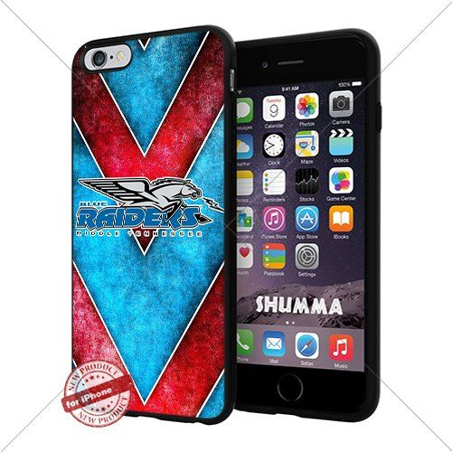 """NCAA Middle Tennessee Blue Raiders Cool iPhone 6 Plus (6+ , 5.5"""") Smartphone Case Cover Collector iphone TPU Rubber Case Black SHUMMA http://www.amazon.com/dp/B015ANXKNA/ref=cm_sw_r_pi_dp_zexewb0PWXM9P"""