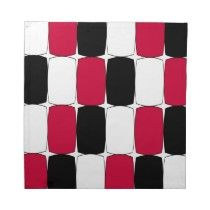 Black, white and red kitchen napkins. Share your favorite kitchen colors!
