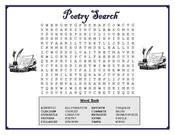 Free Poetry Puzzles Poetry Activities Teaching Poetry Poetry Classroom