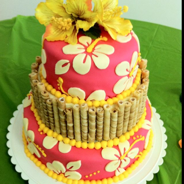 bridal shower cake hawaiian theme hawaiian luau party hawaiian theme aloha party