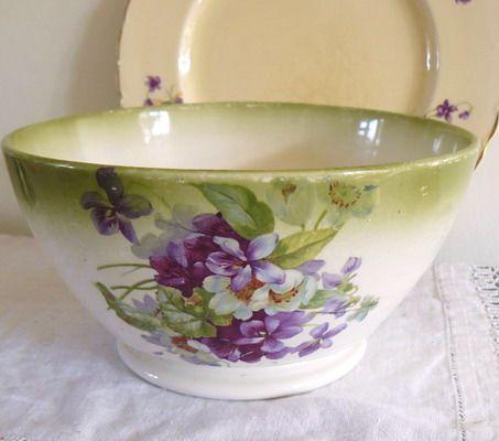 Victorian violets serving bowl - Vintage Lifestyle