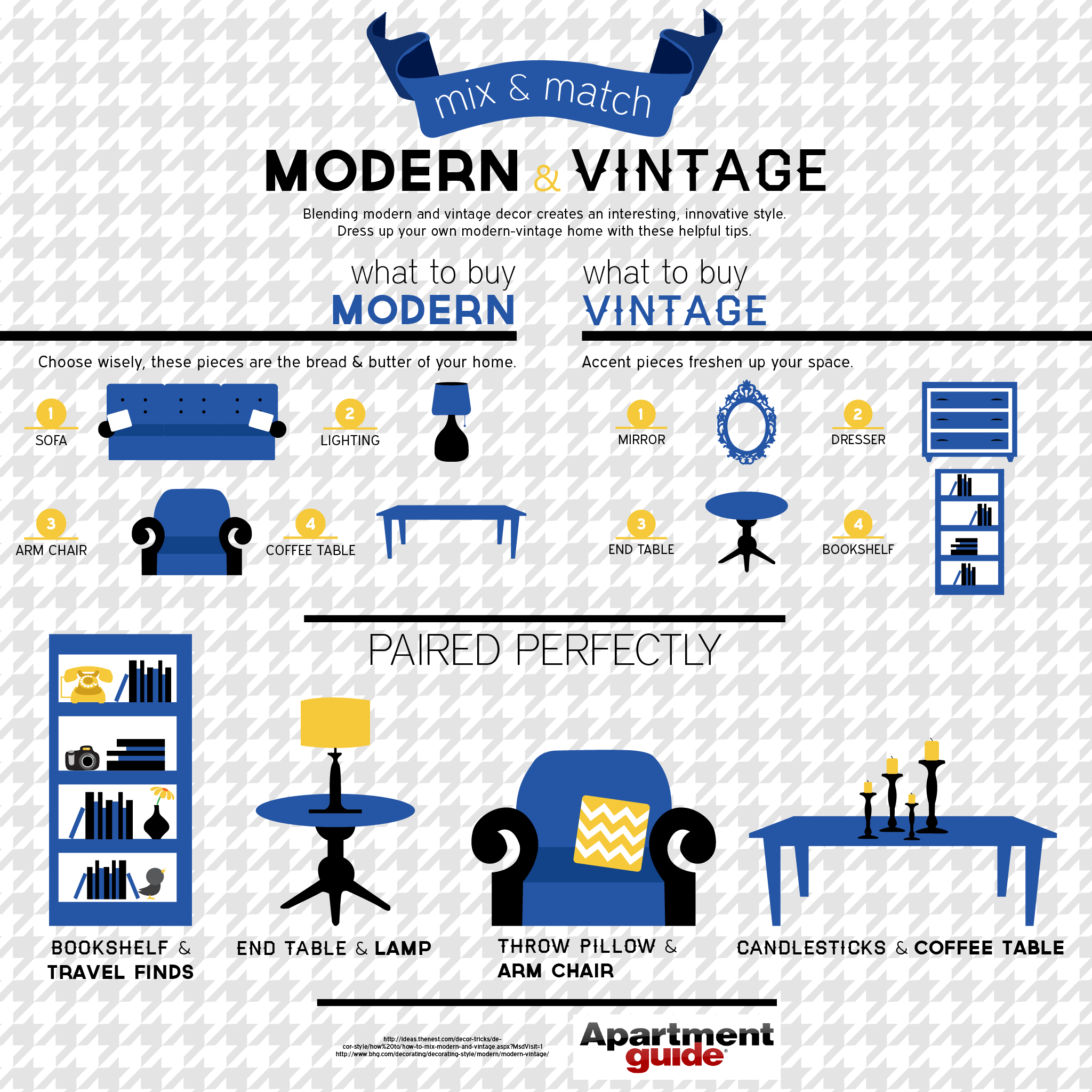 Mix And Match Modern And Vintage Decor Apartmentguide Com