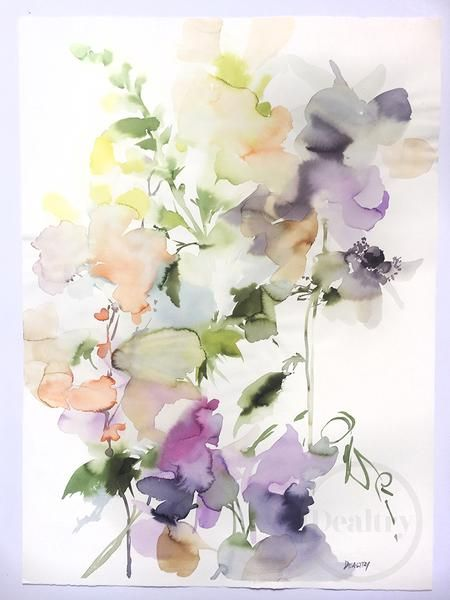 This Is An Original Hand Painted Watercolor By Helen Dealtry