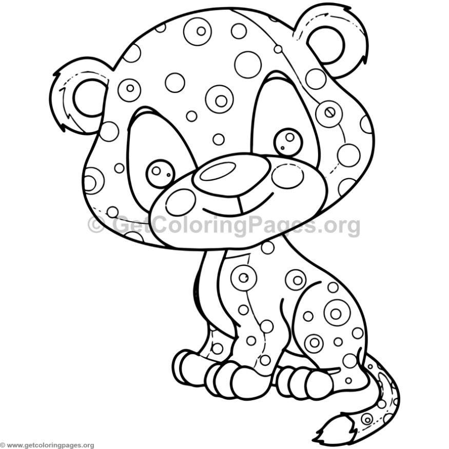 Cute Baby Jaguar Animal Coloring Pages   Grafika   Pinterest