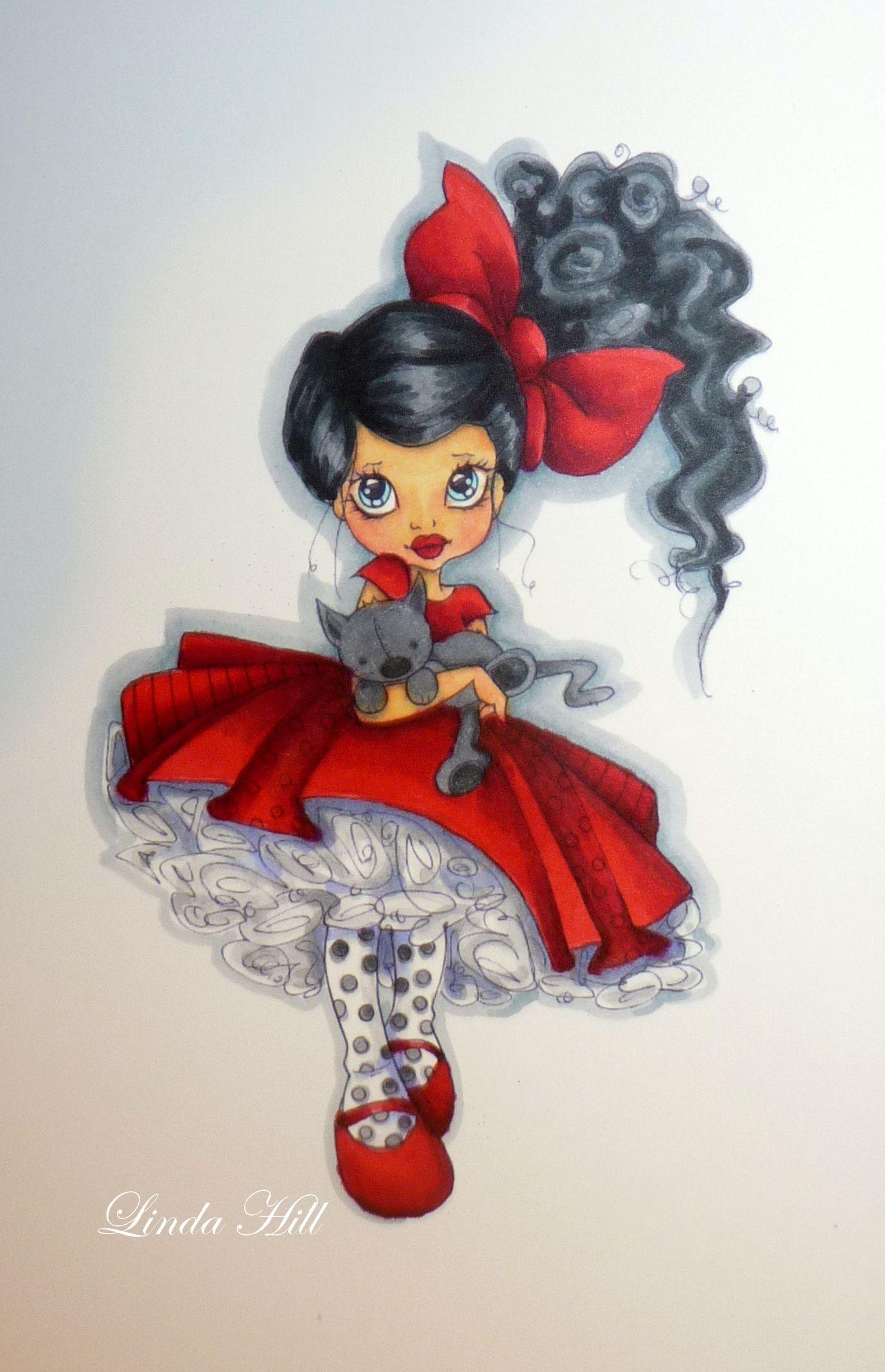 little red dress in spectrum noir pens