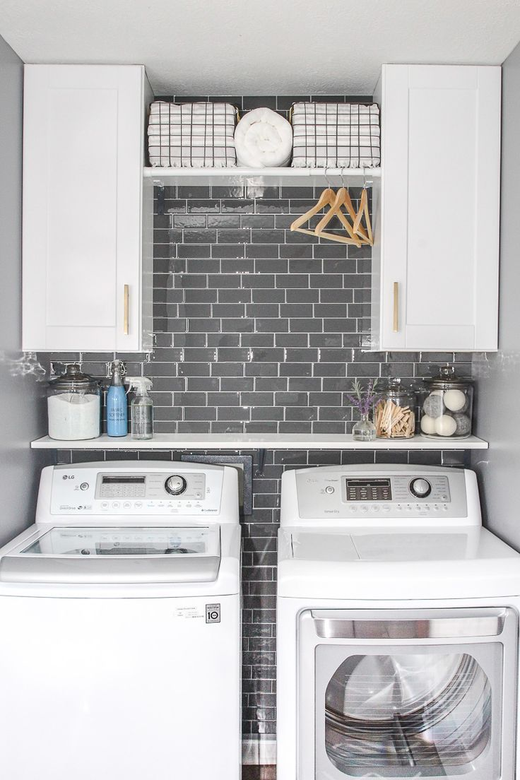 Photo of Laundry Room Update with Peel and Stick Tile Backsplash – Lydi Out Loud