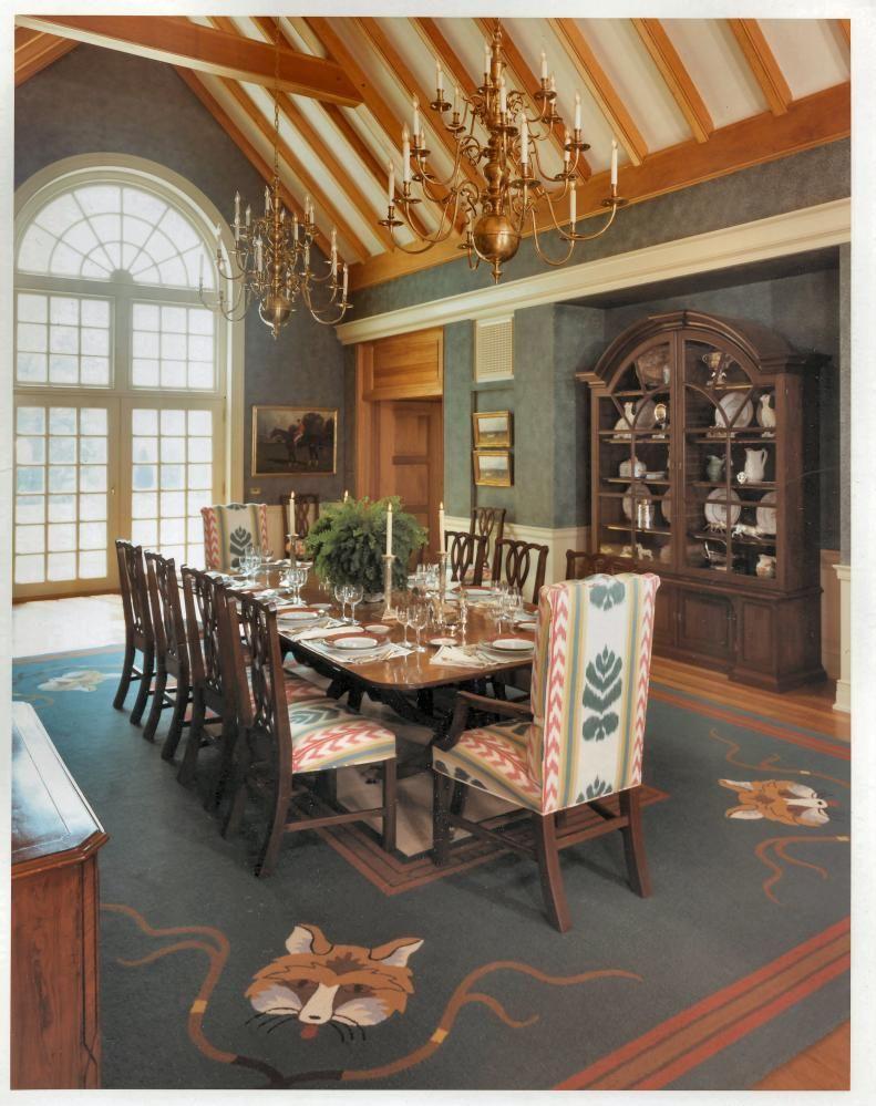 Va Hunt Country Dining Room Ann Greeley Interiors Lexington Ky