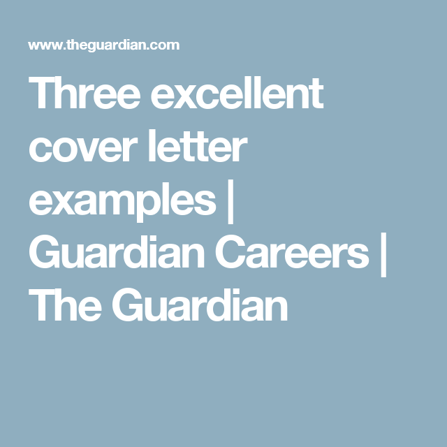 Three Excellent Cover Letter Examples  Letter Example Cover