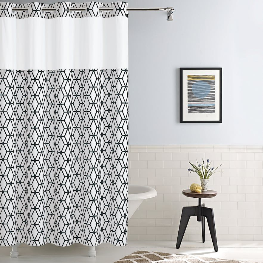 Hookless Prism Shower Curtain Liner Hookless Shower Curtain