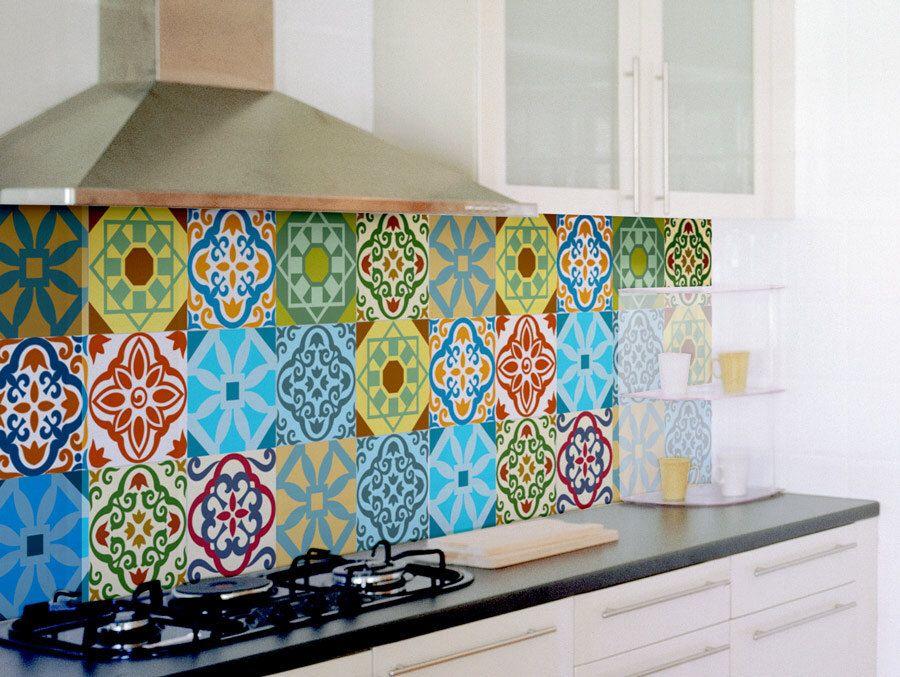 Tile decals SET OF 15 tile stickers for kitchen backsplash tiles