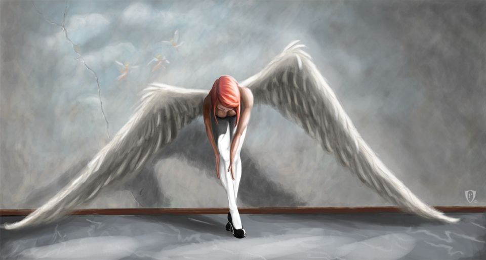 Red haired angel | Angels | Pinterest | Angel