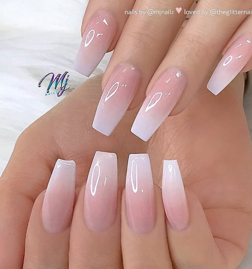 54 Hot Gel Pink Acrylic Coffin Nails Design Ideas Page 42 Of 55 Latest Fashion Trends For Woman Pink Ombre Nails Pink Acrylic Nails Coffin Nails Designs