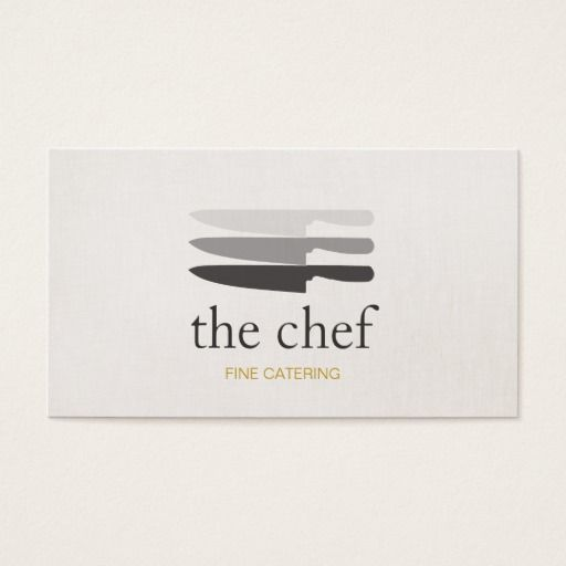 Personal chef knife catering simple and modern business card personal chef knife catering simple and modern business card butcher business cards pinterest business cards and business colourmoves