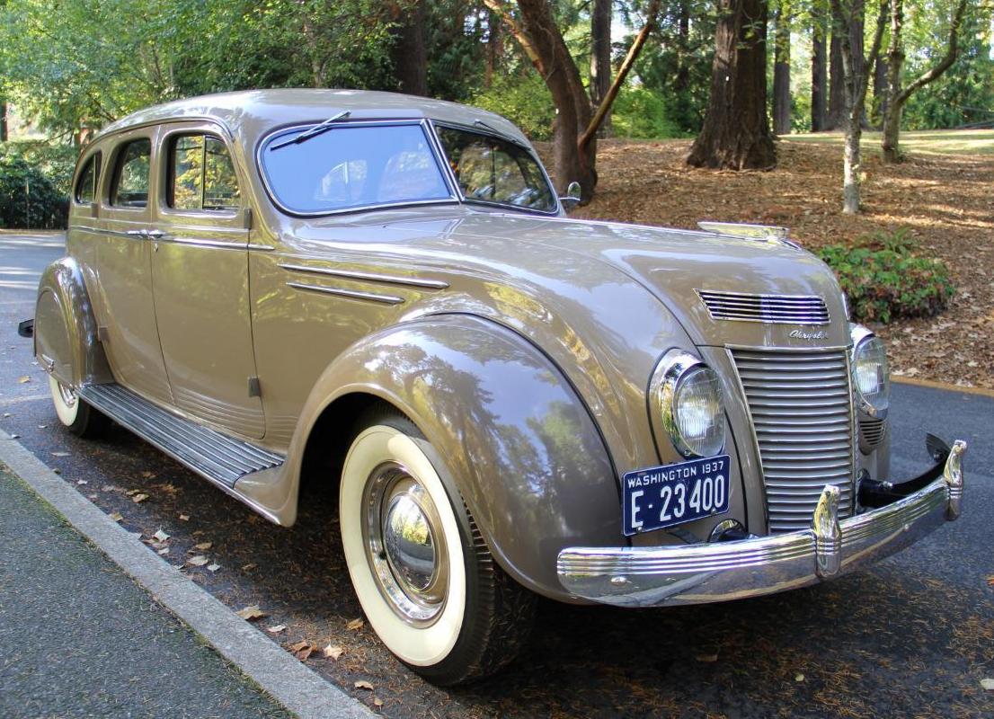 Ten Year Restoration 1937 Chrysler Airflow Chrysler Airflow Chrysler Cars Desoto Cars