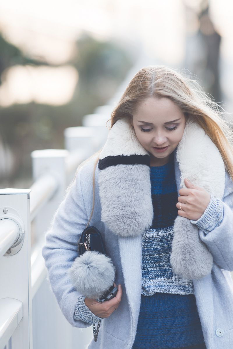 effca2eaf30 Olga Choi myblondegal fashion blogger South Korea Ольга Цой стилист байер  Styled Moscow Москва Romwe knit set Styled Moscow fur scarf шарф мех velvet  bag ...