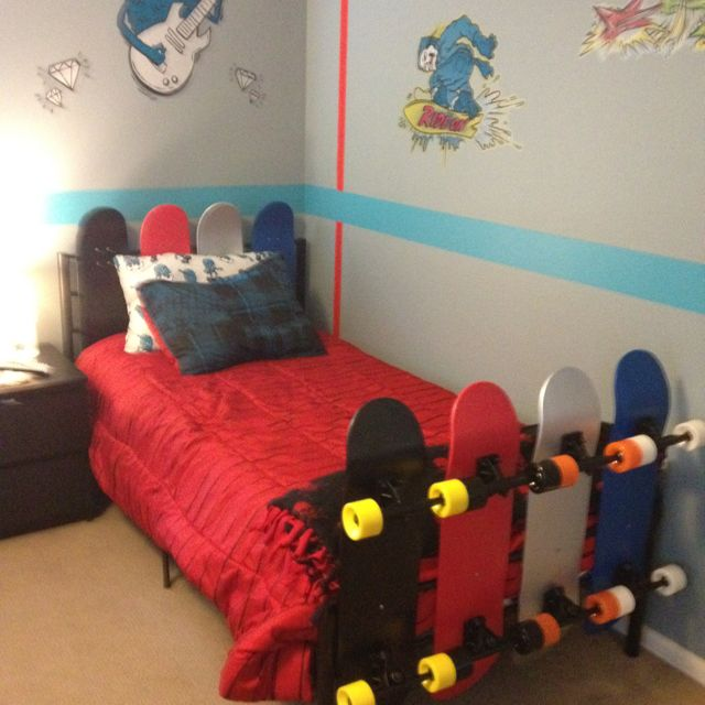 Pin By Rachel Grinnell On Kid S Room Skateboard Room Kids Room Inspiration Boy Room