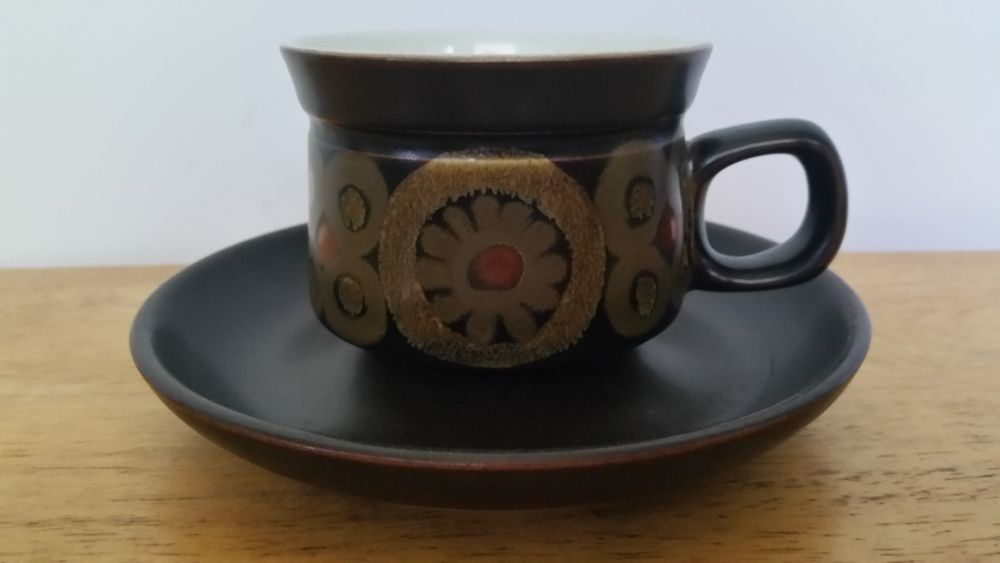 Original Denby England Tea Cup & Saucer Set Arabesque Design by ...