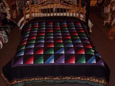 Amish Quilt Patterns | Stripe Amish Quilt Queen :: Quilts (Available/In Stock) :: Quilts ...
