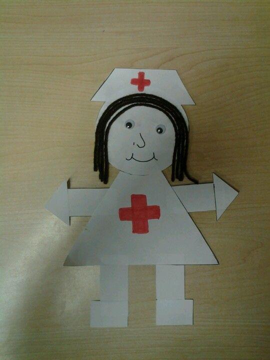 Nurse Shape Craft Student Crafts Pinterest Shape