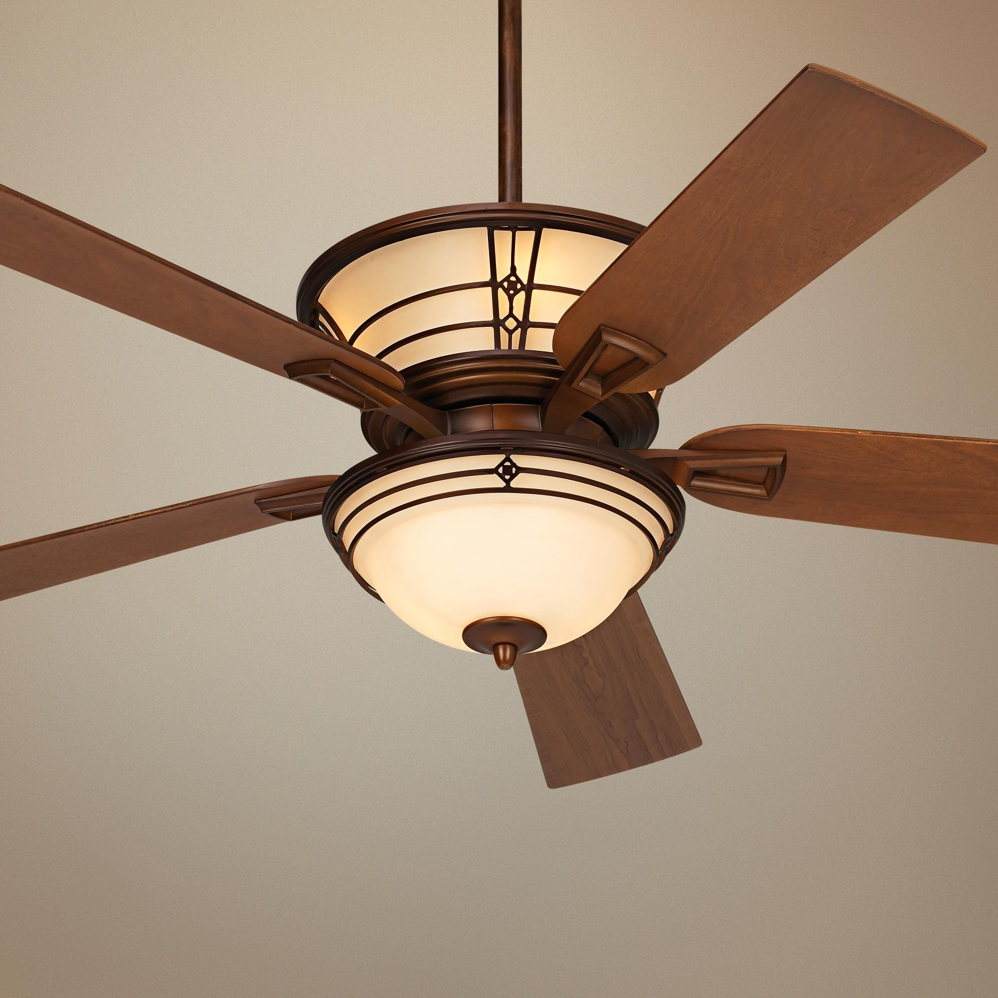 """52"""" Fairmont Aged Bronze Ceiling Fan Like this one has great"""