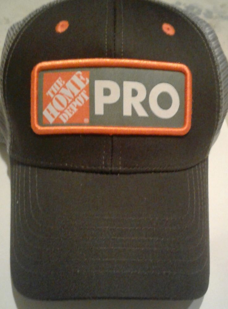 5d938c1c8a67f New TRUCKER Silver N Black- The Home Depot PRO Hat Mesh Vent-Back-100%  Cotton  HomeDepot  BaseballCap