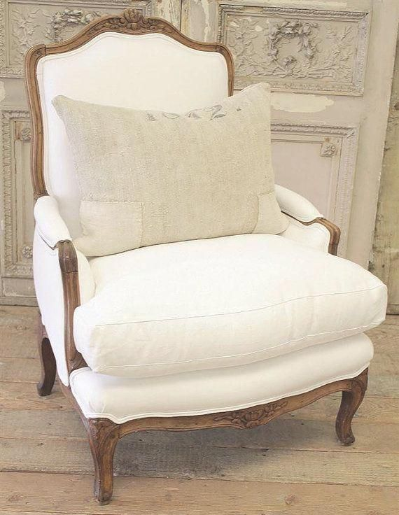Antique French Country Bergere Chair by FullBloomCottage on Etsy countryhomedecoratingfrench is part of French chairs -