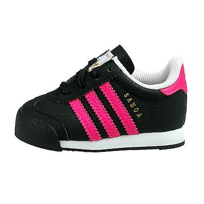Adidas Samoa Infant F37548 Black Pink Toddler Shoes Sneakers Baby Girls Size  6