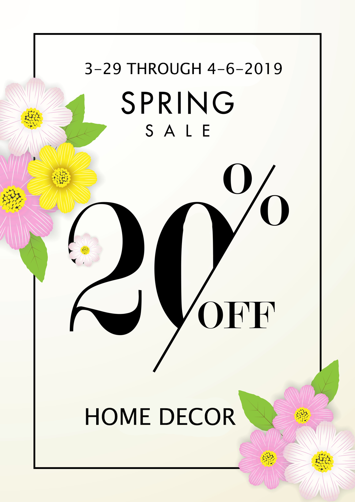 Ready to save big on that spring home decor project or