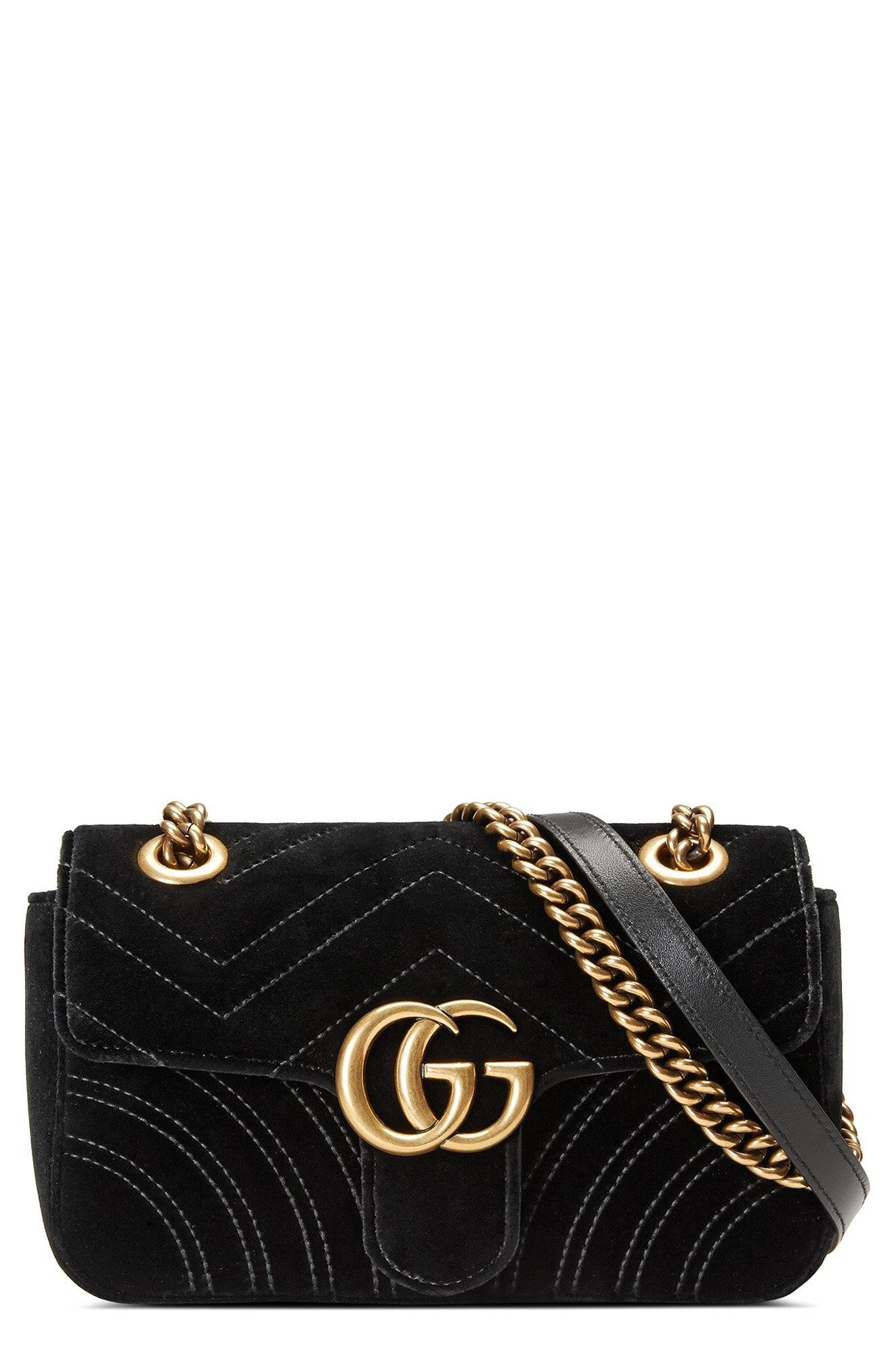 31e020e0907 New Gucci Small GG Marmont 2.0 Matelass  Velvet Shoulder Bag fashion  online.   1290   shop.seehandbags