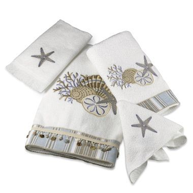 Avanti By The Sea Bath Towel Collection In White Towel