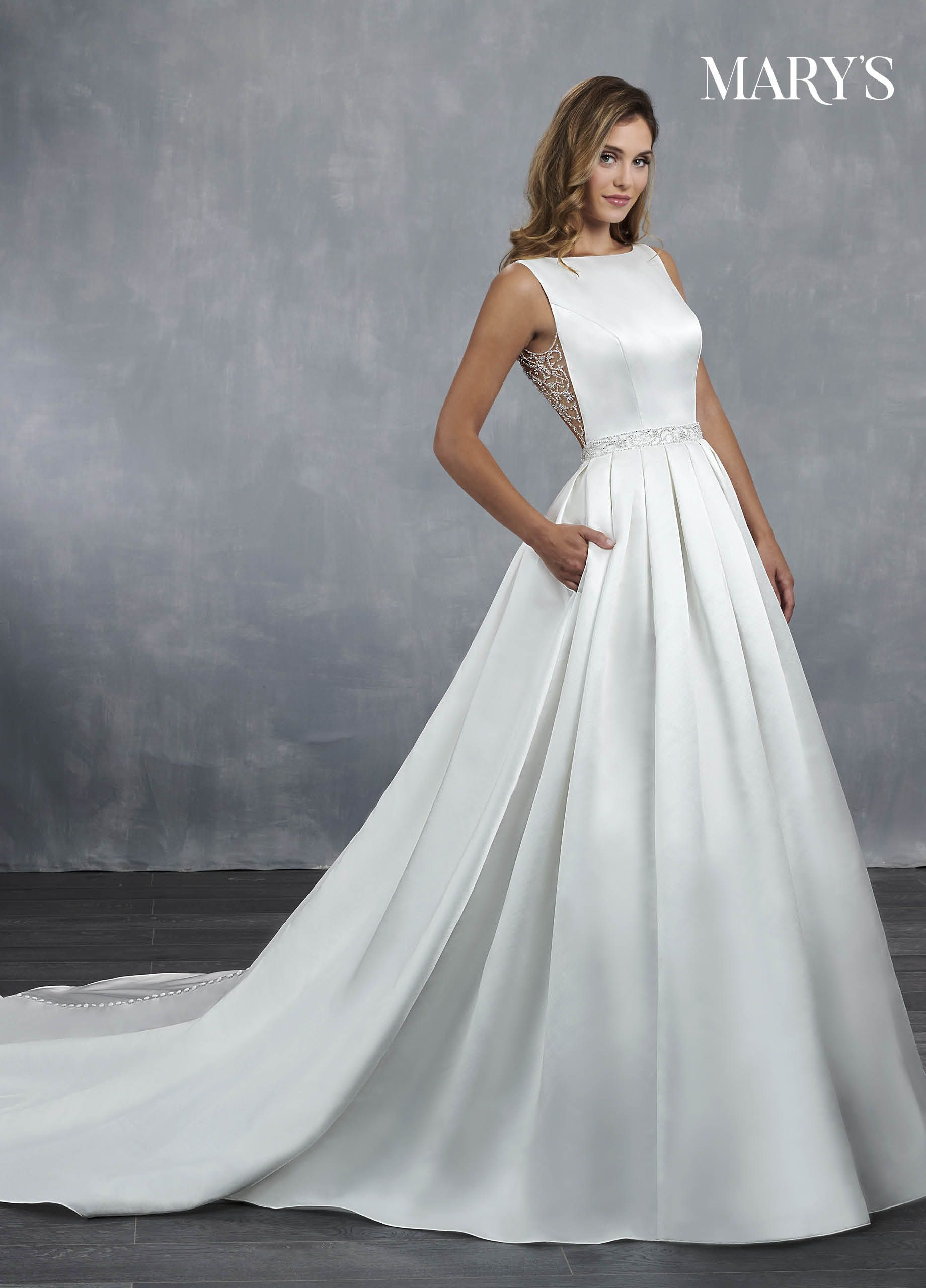 Pin By Mary S Bridal On Wedding Ideas Pleated Wedding Dresses Wedding Dresses Satin Plain Wedding Dress [ 2560 x 1840 Pixel ]