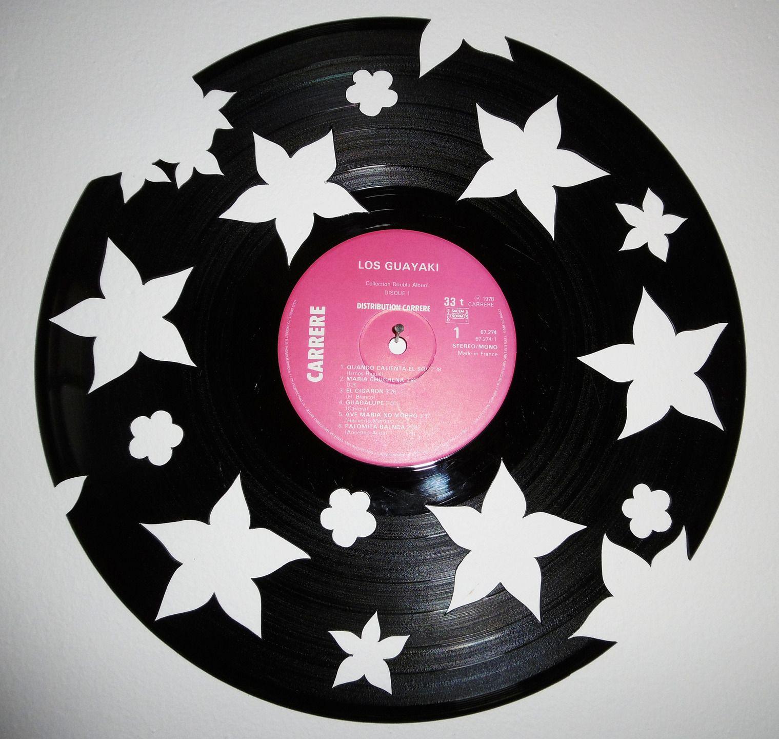 d coration murale disque vinyle 33 tours d coup la main cr ation unique et originale. Black Bedroom Furniture Sets. Home Design Ideas