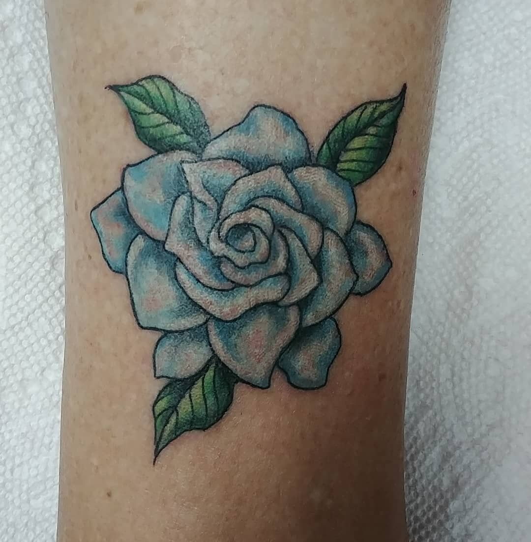 Done By Jinglumtattoo Gardenia Flower For The Very Pleasant Ann