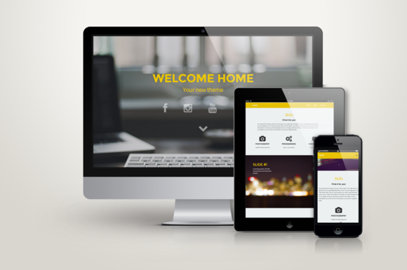 Home HTML Responsive One Page (With images) Sticky