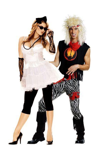 pop queen and rock god couples costumes party city - 80s Rocker Halloween Costume