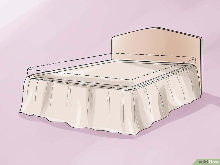 fabriquer un cache sommier ou jupe de lit maison. Black Bedroom Furniture Sets. Home Design Ideas