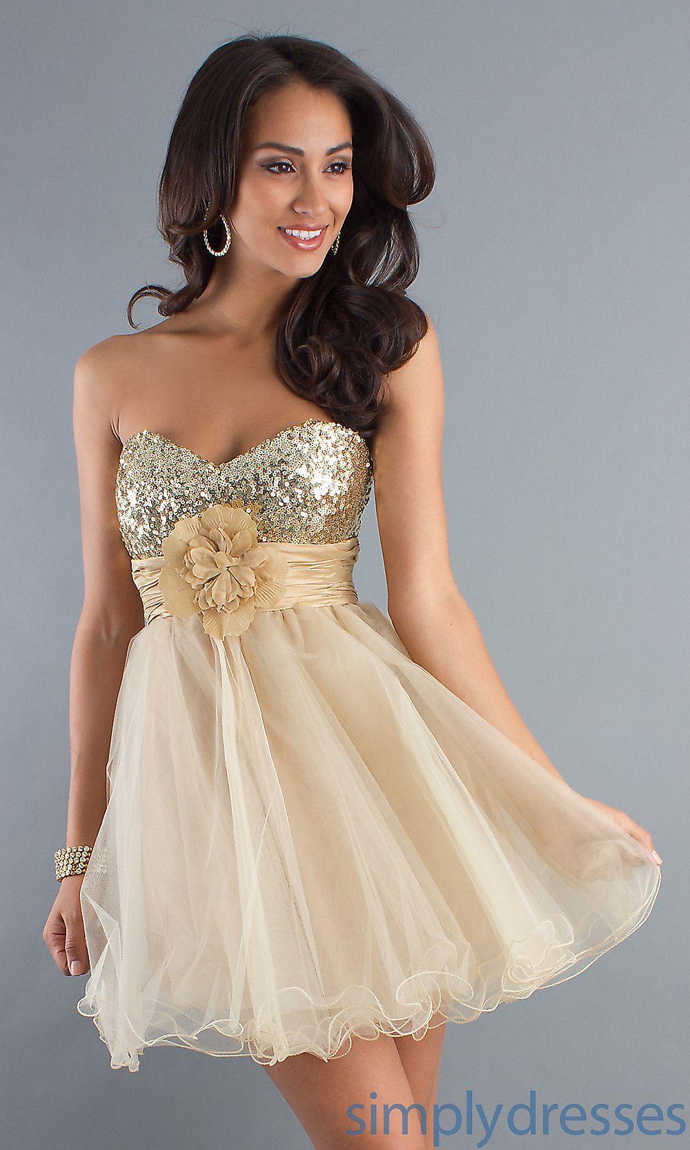 Short Strapless Gold Sweetheart Party Dress Strapless Party Dress Party Dress Formal Party Dress [ 1666 x 1000 Pixel ]