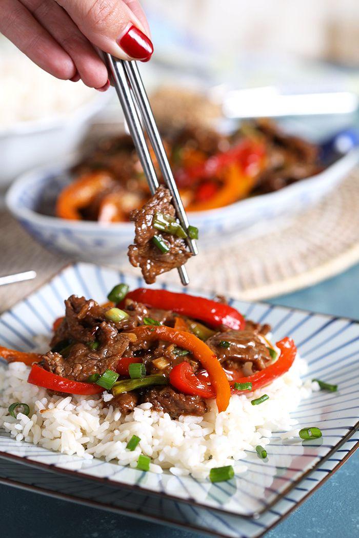 Super Easy Mongolian Beef Stir Fry Recipe Beef Stir Fry