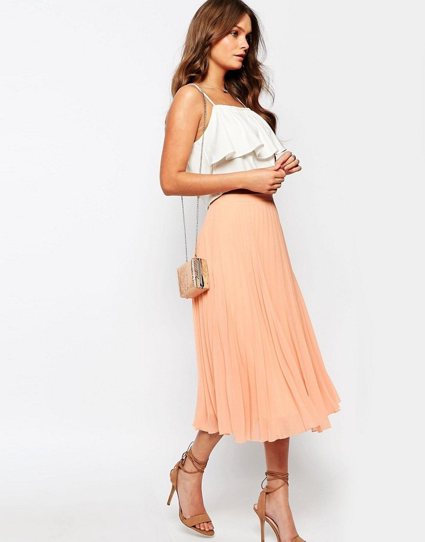 773c1f3c1b ShopStyle Collective | Business Skirts in 2019 | Pleated midi skirt ...