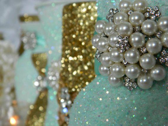Wedding Centerpiece Wedding Decorations Gold Shabby Chic