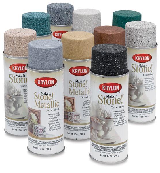Exceptional Stone Textured Spray Paint Part - 11: Krylon Make It Stone Spray Paint