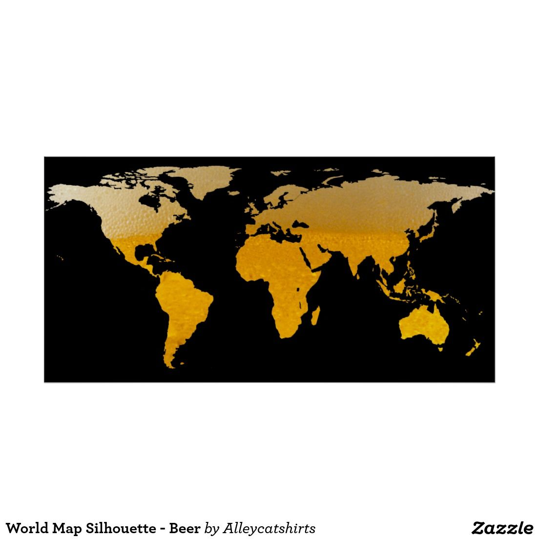 World map silhouette beer poster beer poster and silhouettes world map silhouette beer poster gumiabroncs
