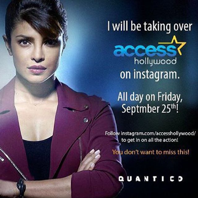 Ready for a takeover? @priyankachopra is taking over our Instagram all day so you can get a behind-the-scenes look of @abcquantico! Get ready... #regram