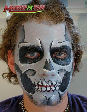 Makeup FX Tech | Special Makeup Effects News | Tutorials: Skull Makeup Halloween Tutorial
